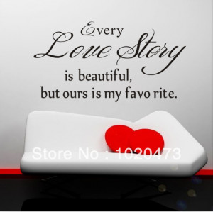 Love-Story-Is-Beautiful-Removable-DIY-Wall-Stickers-Quotes-And-Love ...