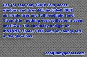 Cool Car Quotes Car sale