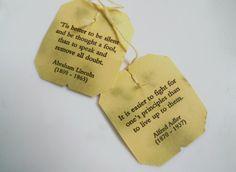 tea bag quotes/scriptures? More