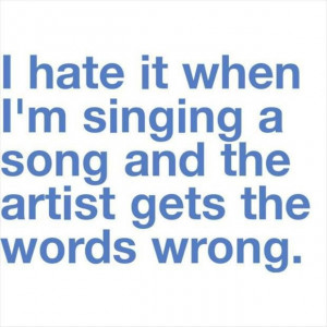 Funny singing quote