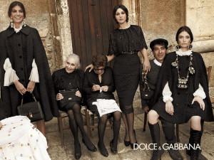 Dolce & Gabbana. I love this sexy Italian widow thing they have going ...