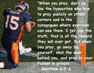 tim tebow is a douche bag ....everyone watch this http://youtu.be ...