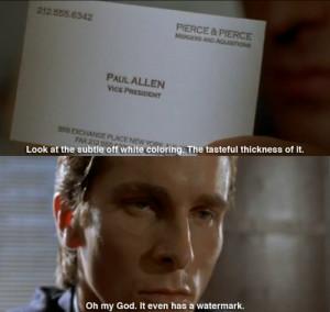 Verwandte Suchanfragen zu Business card bone american psycho quotes