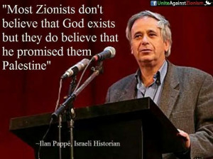 Israeli historian Ilan Pappe of the University of Exeter has recently ...