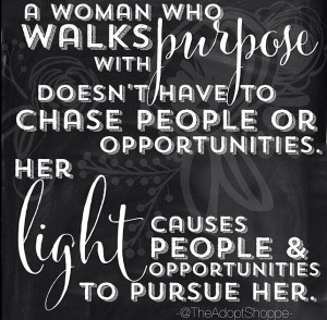 woman who walks with purpose