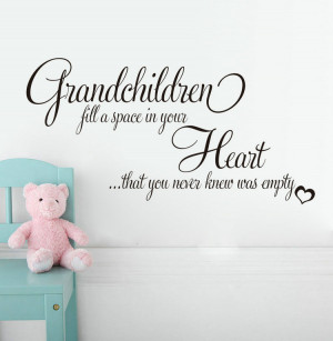 Wall-Vinyl-Decal-Quotes-Grandchildren-Fill-Empty-Heart-Wall-Sticker ...