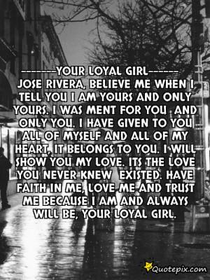 Your Loyal Girl Jose Rivera