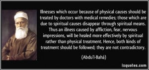 because of physical causes should be treated by doctors with medical ...