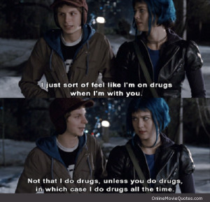 not that i do drugs scott pilgrim quote