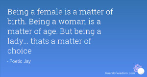 being a lady quotes