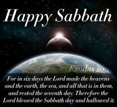 Happy Sabbath ♥ More
