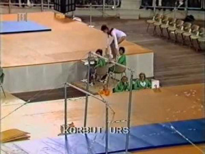 illegal stunt on uneven bars how many ways can you mount uneven bars ...