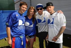 Actor Zach Gilford, actress Amber Lancaster, Joel Madden and Benji ...