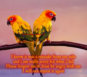 ... Forgive Me And Don't Be Angry With Me I Will Not Repeat It Again