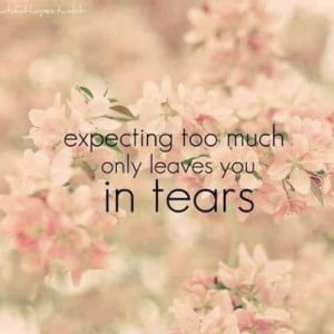 Don't expect too much