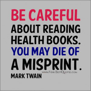Funny health quotes funny reading health books quotes mark twain ...