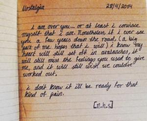 quote diary Grunge writing handwriting nostalgia cursive poetry poem ...