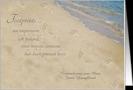 Footprints - Remembering Mom on Birthday card - Product #474290