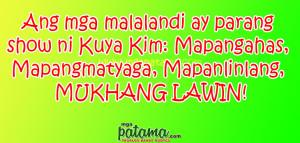 Lawin Patama Quotes sa mga Malalandi
