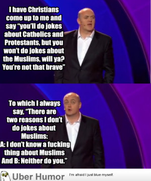 Comedian explains why he doesn't do jokes about Muslims