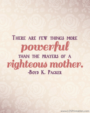 righteous mother-01 free lds general conference download printables ...