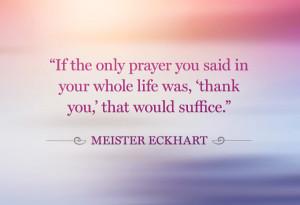 Meister Eckhart gratitude quote
