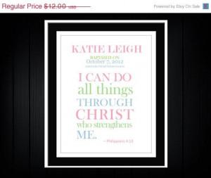 SALE Happy 4th of July Baptism Christening Bible Verse Custom Print ...