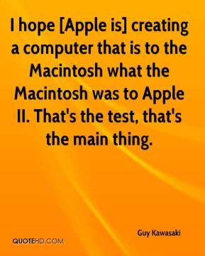 computer that is to the Macintosh what the Macintosh was to Apple ...