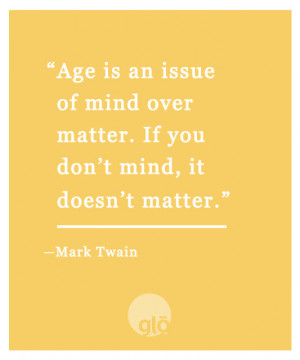 Skin Care Quotes Quotes we love: mark twain