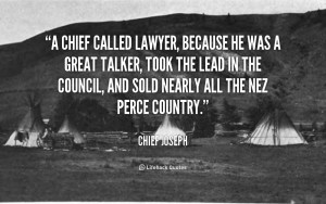 nez perce chief joseph quotes
