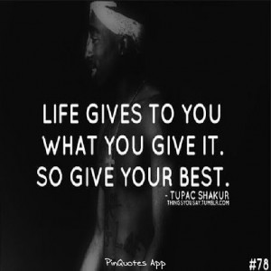 Tupac Shakur Quotes Sayings Ghetto Inspirational Quote