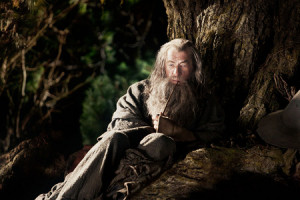 ... in a photo from the set of The Hobbit: An Unexpected Journey (2012