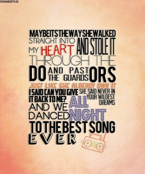 ... song i listen to when im happy. One Direction-best song ever lyrics