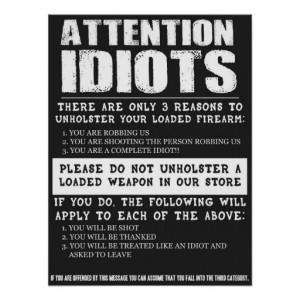 Funny Gun Store Sign