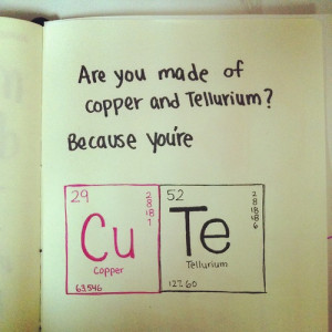 Daily Quotes: Are You Made Of Copper And Tellurium, Because You're ...