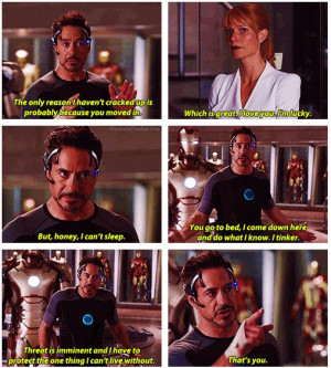 Tony Stark Is Fueled By His Need To Protect Pepper Potts In Iron Man 3