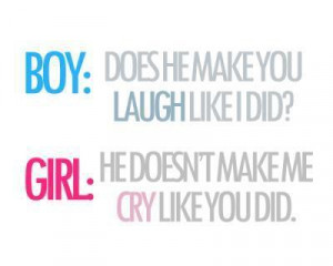 boy, cry, girl, laugh, quotes, text