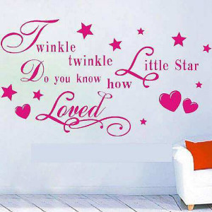 ... » Shop » Bedroom » Twinkle Twinkle Little Star Saying Quotes Pink