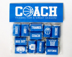 ... Treat Toppers – Coach Thank You Gift – End of Season Treats