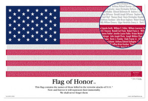 Honor Poster Flag of honor poster