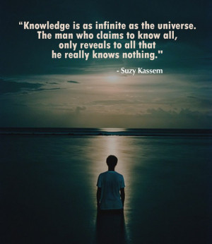 knowledge, quotes, universe, wisdom, suzy kassem