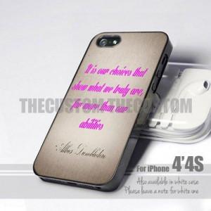 Harry Potter Albus Dumbledore Quote 4s Design for iPhone 4 or 4s Case