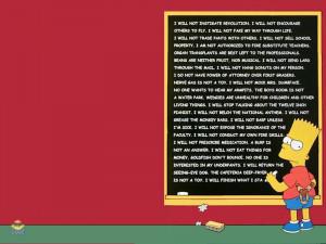 Bart Blackboard Lines