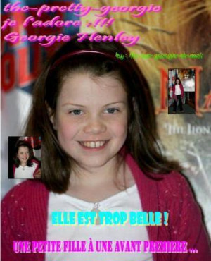 Georgie Henley as Lucy Pevensie Art