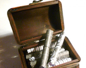 Love You Scrolls! 20 Romantic Lov e Quotes in a beautiful wood chest ...
