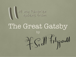 The Great Gatsby Setting Quotes