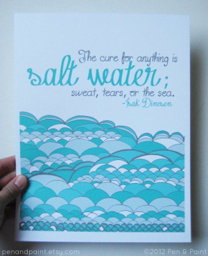 Isak Dinesen quote by penandpaint, $17.50