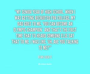 High School Senior Year Quotes