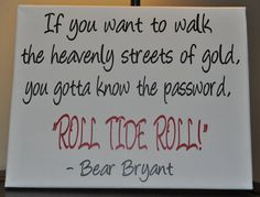 Alabama//Handmade Pillow//Square//Large//Bear Bryant//Quote//Roll…