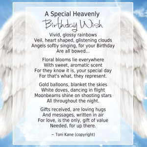 Loved One In Heaven On Birthday | A Special Heavenly Birthday Wish